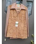 60s hippie  boho  high  fashion  pant suit  Front  zip patchwork   LEATH... - $75.50
