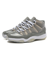 Men's Air Jordan 11 Shoes Michael Jordan Gray Basketball Shoe - $96.99