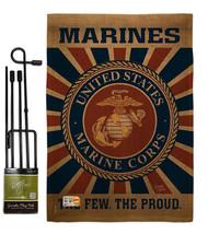 Marine Corps Burlap - Impressions Decorative Metal Garden Pole Flag Set ... - $36.97