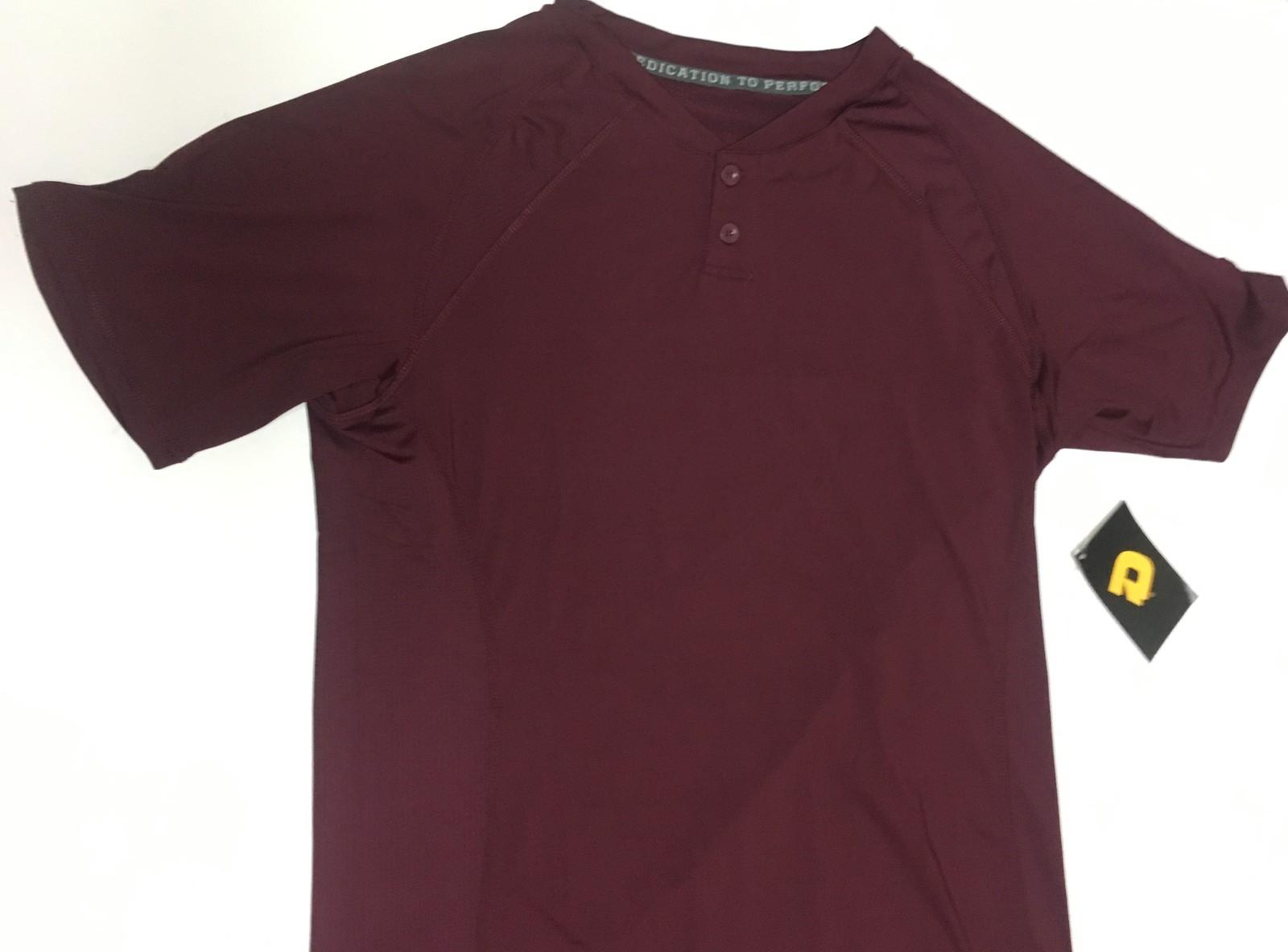 DeMarini Sports Comotion Performance Shirt Men's Sz L Maroon