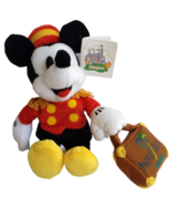"Disneyland Pacific Hotel Bellhop Mickey Mouse Plush 9"" Red Jacket Beanba... - $35.28"