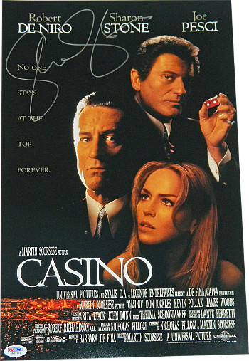 Primary image for Sharon Stone signed Casino 11x17 11x17 Movie Poster- PSA Hologram (entertainment