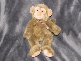 """Russ Berrie Jimby Plush Monkey 9"""" Tipped Brown Poseable Unjointed Stuffe... - $27.71"""