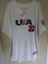 NWT 2006 Majestic World Baseball Classic Roger Clemens # 22 USA Jersey Men 52 - $112.26