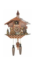Trenkle Quartz Cuckoo Clock Black Forest House with Moving Wood Chopper ... - $277.89