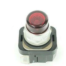 ALLEN BRADLEY 800T-PT26 PUSH BUTTON RED LENS SER. N W/ 800T-XA SER. C CONTACT image 6