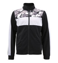 Men's Camo Striped Zip Up Athletic Slim Fit Running Jogging Gym Track Jacket image 8