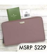 NEW Kate Spade Laurel Way Kaden Pink Large Leather Wallet - $129.00