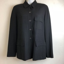 banana republic womens size 6 black 3 pocket front blazer career wear  - $14.95