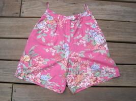 Womens Shorts Petite 8P Ralph Lauren cotton Pink Traditional Floral Gard... - $13.86