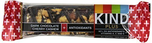 KIND Bars, Dark Chocolate Cherry Cashew + Antioxidants, Gluten Free, Low Sugar,