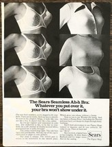 1974 Sears Seamless Ah-h Bra PRINT AD Whatever You Put Over It Won't Sho... - $11.69