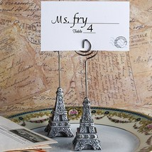 From Paris With Love Collection Eiffel Tower Place Card Holder Favors - $81.32