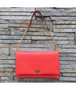 Tory Burch Kira Clutch (Color:Poppy Red) - $318.00