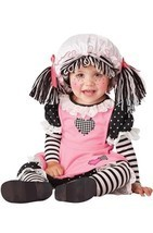 INFANT TODDLER BABY DOLL RAGGEDY ANN TOY KIDS CHILD HALLOWEEN COSTUME 10029 - $27.99