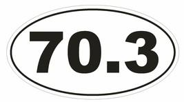 70.3 Oval Bumper Sticker or Helmet Sticker D150 Euro Oval Iron Man - $1.39+