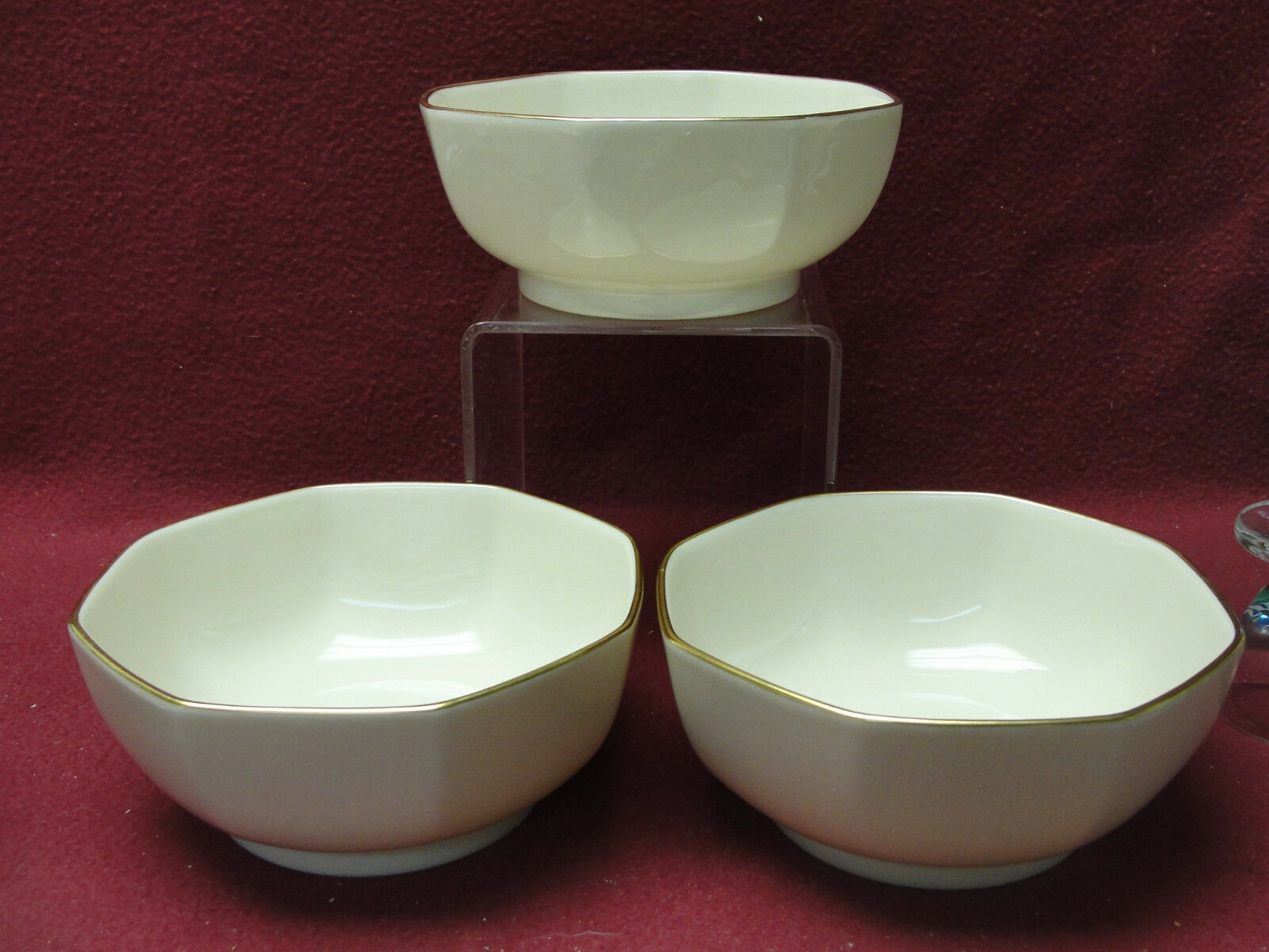 "Primary image for Three (3) LENOX Ivory ChIna - L26 Pattern Eternal Special - 5"" Octangonal BOWLS"