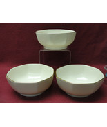 "Three (3) LENOX Ivory ChIna - L26 Pattern Eternal Special - 5"" Octangonal BOWLS - $40.95"