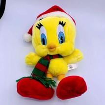 "Tweety Bird Plush 1998 Play By Play Looney Tunes 15"" Holiday  Stuffed An... - $16.82"