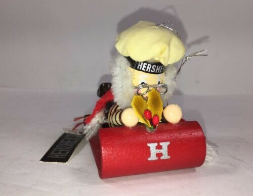 Hershey's Vintage Santa ON Sled Christmas Holiday Ornament 1992