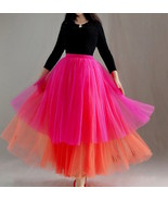 Hot pink orange layer tutu 2 thumbtall