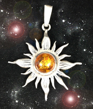 HAUNTED NECKLACE 20 ANCIENT SUN'S FORTUNE BLESSINGS HIGHEST LIGHT RARE MAGICK - $4,295.11