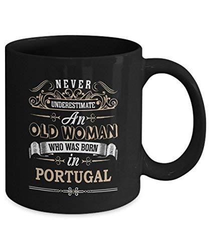 Primary image for PORTUGAL Coffee Mug - Old Woman Who was born in PORTUGAL Ceramic Mugs - Wonderfu