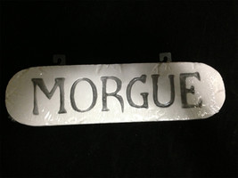 CSI Dexter Horror Sign-MORGUE-Mad Scientist Door Wall Halloween Prop Dec... - $6.90