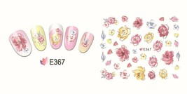 Nail Art 3D Decal Stickers Watercolor Flowers E367 - $2.99