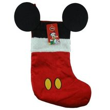 """Disney Mouse Ears 18"""" Velour Christmas Stocking with Plush Cuff (Mickey Mouse -  - $10.40"""