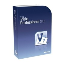 Microsoft Visio 2010 Professional 32bit & 64bit for 1 PC Download License - $23.99