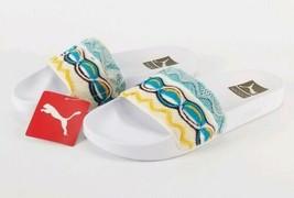 Puma x Coogi Leadcat Slides Sandals Men's Size 8 367508 01 White Gold New  - $41.59