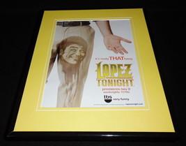 George Lopez Tonight 2009 TBS Framed 11x14 ORIGINAL Advertisement - $32.36