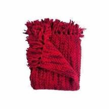 Woven Workz Bella Throw Afghan Blanket  Cherry  50 x 68 - ₹3,512.34 INR