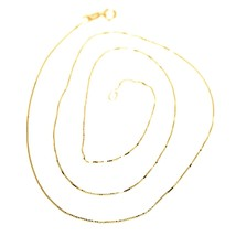 18K YELLOW GOLD CHAIN NECKLACE 0.5 mm MINI VENETIAN LINK 24 INCHES MADE IN ITALY image 1