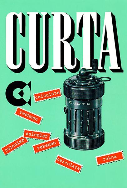 Primary image for Curta Calculator - 1954 - Promotional Advertising Poster