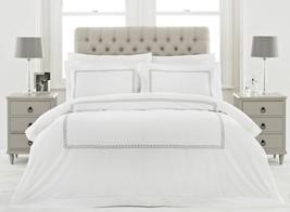 100% Cotton 200tc Bianco Catenina Argento Federe per Piumino Matrimoniale - $90.53