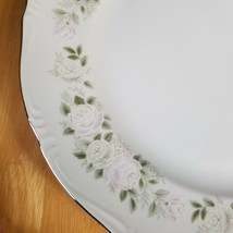 LOT of 2 Sheffield Classic 501 Fine China Dinner Plates White Pink Roses - $4.94