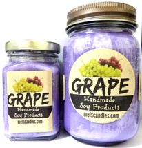 COMBO SET Grape - 16oz Country Jar Soy Candle and 6oz Soy Candle - $20.00