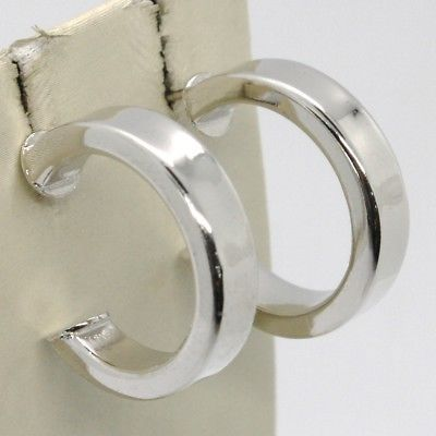 SOLID 925 STERLING SILVER PENDANT EARRINGS, HOOPS CIRCLES SQUARED, 22 MM