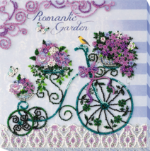 "Bead Embroidery DIY Kit ""Romantic garden"" 7.9""х7.9"" - $33.95"