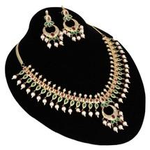 18K Gold Meenakari Kundan Choker Jewellery Bollywood Fashion Bridal Necklace Set - $31.50