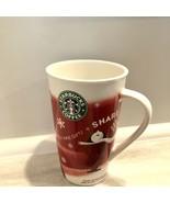 Starbucks HOLIDAY 2010 Tall 16oz Coffee Mug CHRISTMAS Cup Snowflake Bone... - $9.49