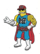 The Simpsons Duff Man Standing Figure Embroidered Patch NEW UNUSED - $9.74