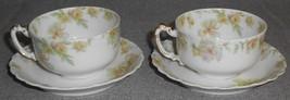Haviland Porcelain THE COUNTESS PATTERN Set (2) Demitasse C/S LIMOGES FR... - $39.59