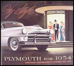 1954 Plymouth Brochure- Belvedere Savoy Plaza - $16.58