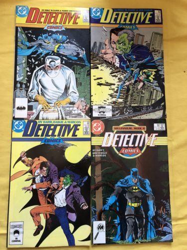 Run lot of 4 Detective Comics (1937 1st Series) #579-582 VF Very Fine