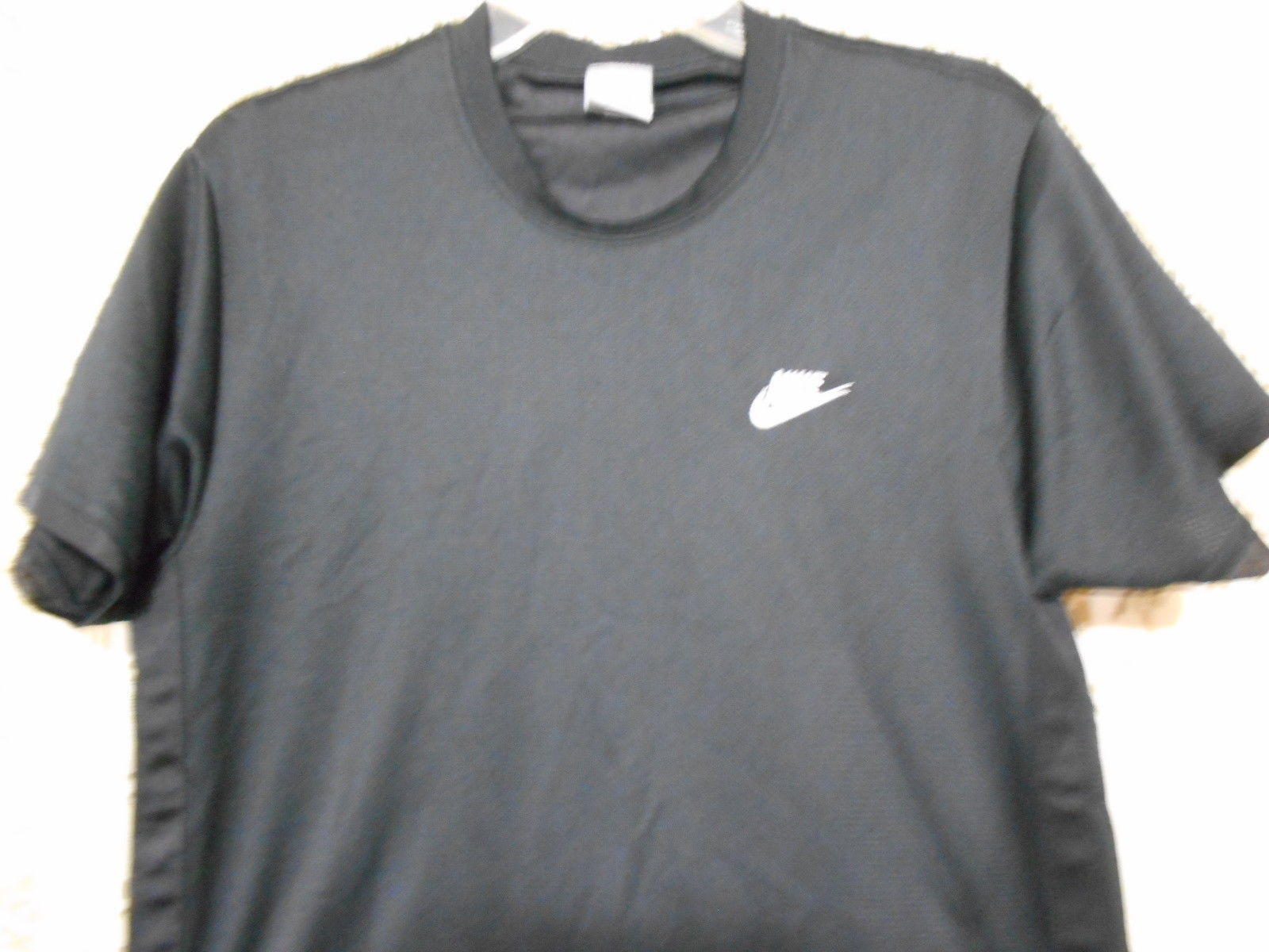 Nike  Men's Black Polyester Athletic Tee Shirt Size Medium