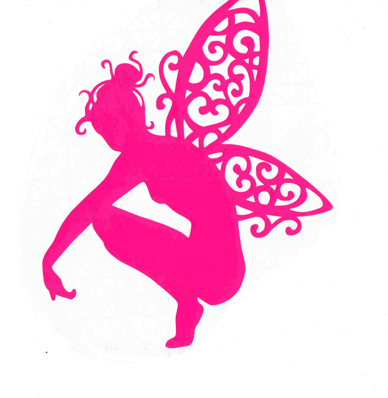 pink or white fairy decal ideal cars, trucks, home etc easy to apply