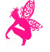pink or white fairy decal ideal cars, trucks, home etc easy to apply image 1